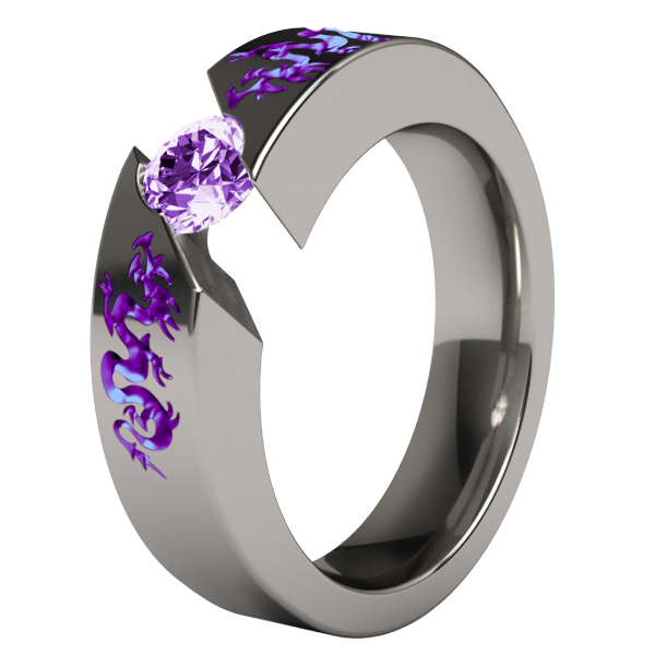 The Custom Engagement Ring Design Process A Purple Gold Dragon